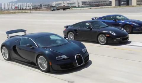 Video Road & Track - Two Second Club - Bugatti, Nissan and Porsche