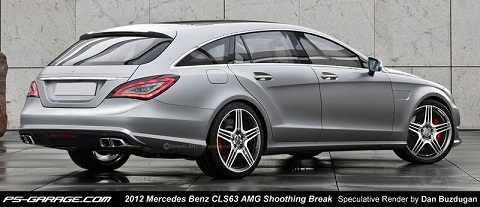 2012 Mercedes-Benz CLS 63 AMG Shooting Brake Rendering