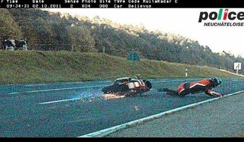 Speed Motorcycle Crash
