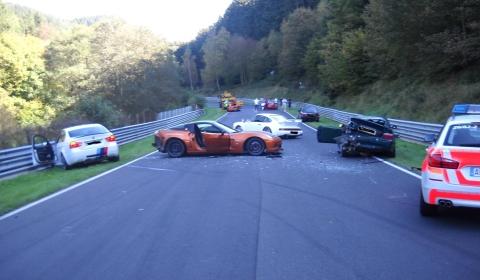 Car Crash Eight Cars Involved in Crash at Nürburgring