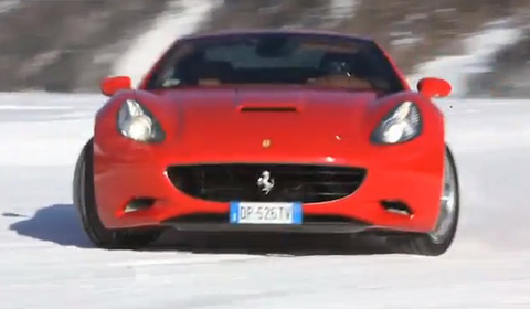 Video: Ferrari California Plays in the Snow