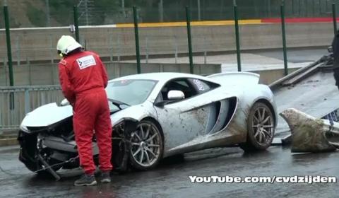 Car Crash McLaren MP4-12C Crashed at Spa Francorchamps