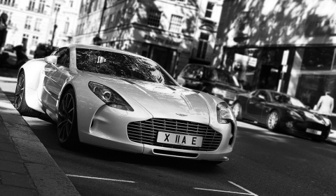 Photo Of The Day White Aston Martin One-77 in London