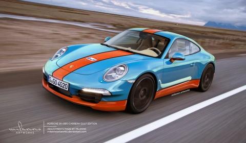 Rendering Porsche 911 (991) Carrera Gulf Edition