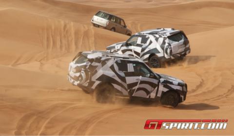 Spyshots 2013 Range Rover in Desert Dubai