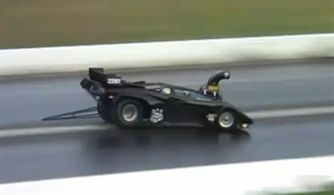 Video Lamborghini Drag Car Hits Wall at Full Throttle Friday