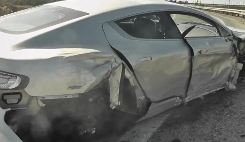 Video Onboard Clip Aston Martin Rapide Crash