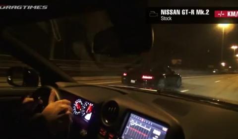 Video Porsche 911 GT2 vs 2012 Nissan GT-R