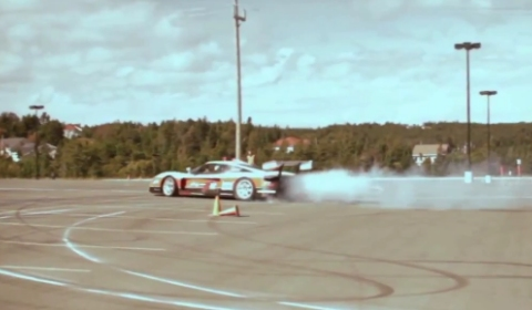 Video Team ZR Drifting a Maserati MC12 at Targa Newfoundland