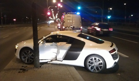 Audi R8 V10 Crash In Warsaw