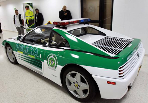 Drug Lord's Ferrari Becomes a Police Car