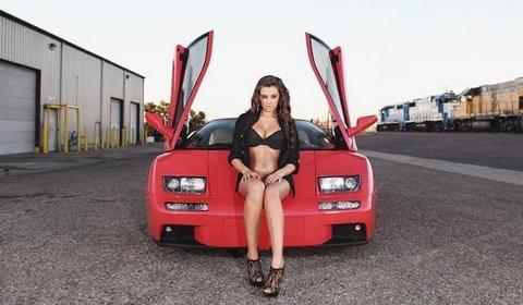 Cars & Girls : Lamborghini Diablo VT & Jenna
