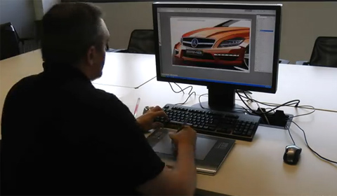 Video: Drawing the Mercedes CLS 63 AMG