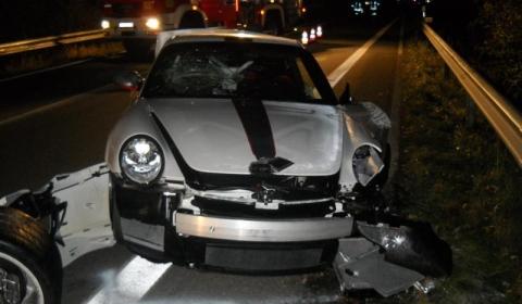 Car Crash First Porsche 911 GT3 RS 4.0 Wrecked near Nurburgring
