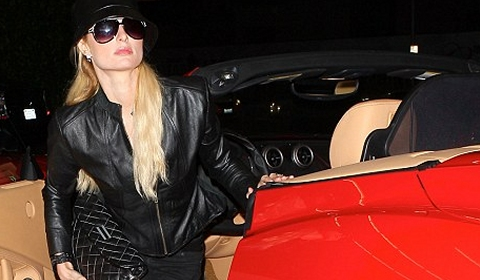 Paris Hilton Parades in Her Brand New Ferrari California
