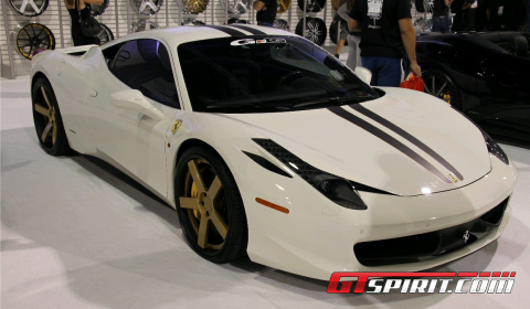 SEMA 2011 Ferrari 458 Italia on Giovanna Wheels