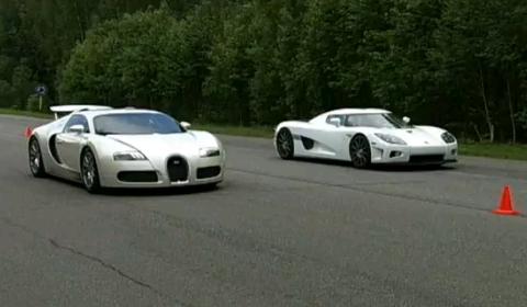 Video Bugatti Veyron vs Koenigsegg CCXR