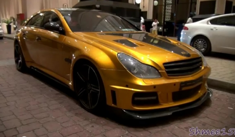 Video Customised Golden Brabus CLS Rocket
