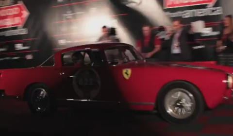 Video Ferrari Accident on Stage at the Mille Miglia North America Tribute