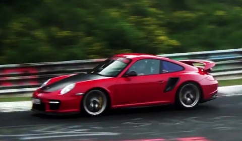 Video Five Times Porsche 911 GT2 RS at the Nurburgring Nordschleife