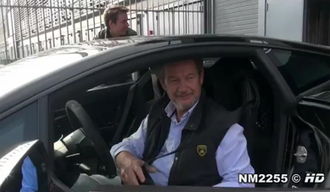 Video Valentino Balboni Launches Gallardo LP570-4 Superleggera