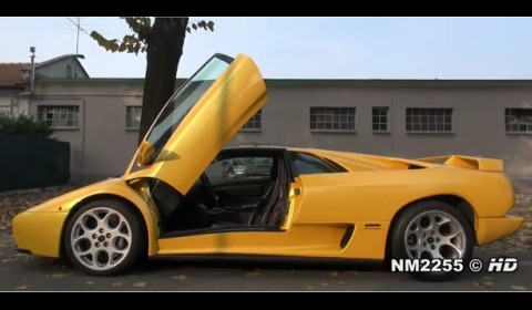 Video Yellow Lamborghini Diablo Vt 6 0 V12 Gtspirit