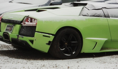 Competition Winner Crashes Prize Lamborghini LP640 Roadster