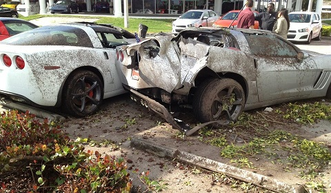 Drunk Driver Wrecks New Corvette Grand Sports in Miami Car Crash: Drunk Driver Wrecks Three Corvette Grand Sports in Miami