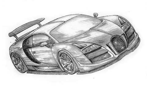 Bugatti Veyron Drawing Side View on Fab Design Working On A Bugatti Veyron And Maybach Coup