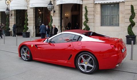 Ferrari 599 SA Aperta in Paris