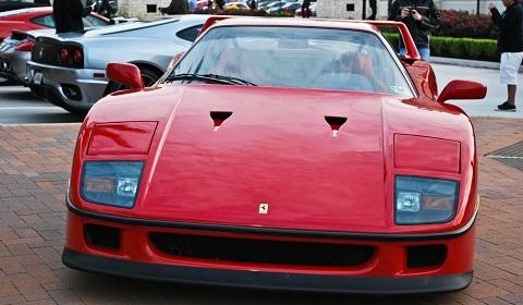 Ferrari F40 at Houston Cars and Coffee