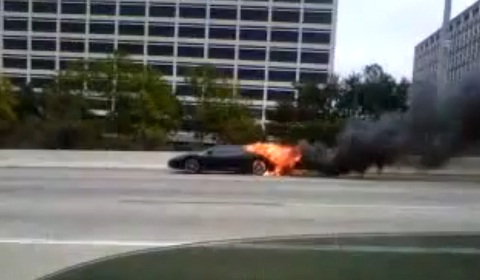 Ferrari F430 on Fire in Houston