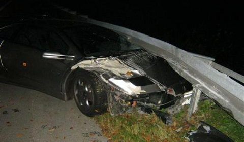 Lamborghini Diablo Crash in Germany
