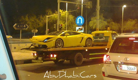 Lamborghini Gallardo LP560-4 Crashed in Dubai