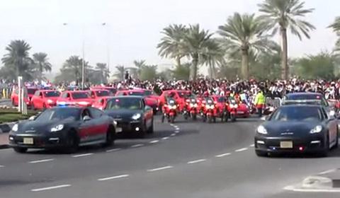 Video Porsche Police Cars On Parade In Qatar Gtspirit