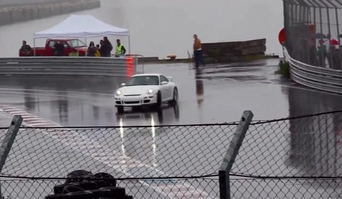 Supercars Drifting in the Wet