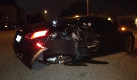Car Crash Audi R8 Wrecked in