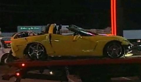Car Crash Bizarre Corvette Crash Injures Two People