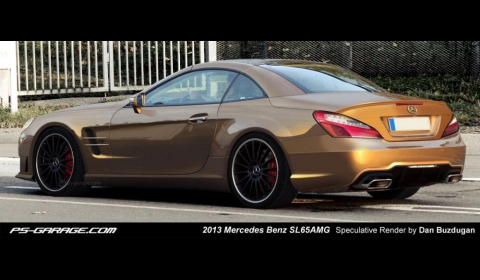 Rendering 2013 Mercedes-Benz SL AMG by Dan Buzdugan