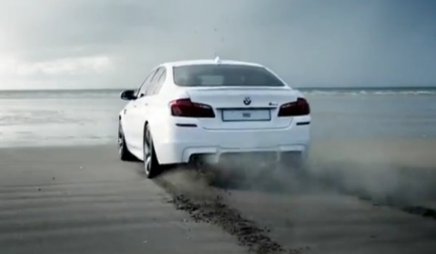 Video 2012 BMW F10 M5 Hits the Beach in Wales