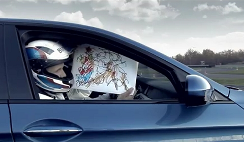 Video 2012 BMW M5 Creates the Fastest Christmas Card
