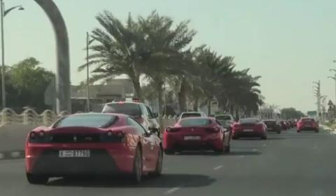 Video Ferrari Parade Celebrating 40th UAE National Day