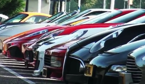 Video Incredible Supercar Lineup in the Netherlands