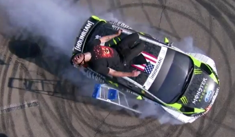 Video Ken Block Hits the Streets of Los Angeles in His H.F.H.V. Ford Fiesta