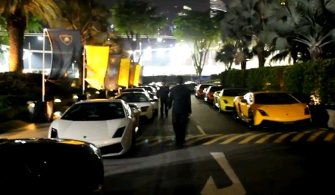 Video Lamborghini Gathering in Singapore
