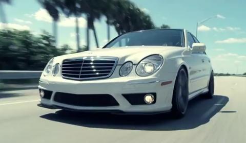Video Mercedes-Benz E 63 AMG with Vossen VVS-CV3 Concave Wheels