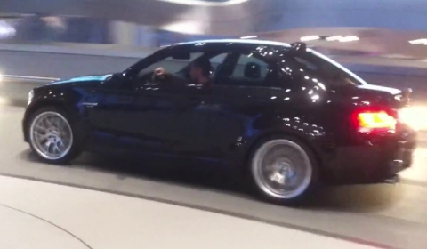 Video Russian BMW 1M Burning Rubber Inside BMW Welt