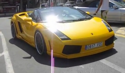 Video Yellow Hamann Victory Spotted in Marbella Spain