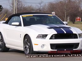 2013 Ford Shelby GT500 Convertible Spyshots
