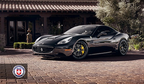 Black Ferrari California on HRE P40S Wheels